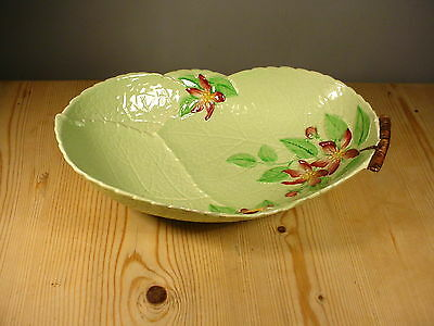 Carlton Ware Green Apple Blossom Bowl