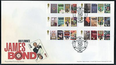GB First Day Cover issued to celebrate the birth of Ian Fleming issued 2008