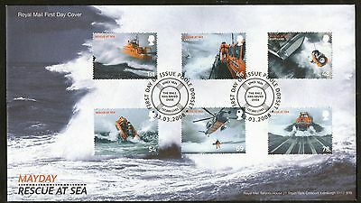 GB First Day Cover to celebrate Rescue at Sea - Lifeboats.