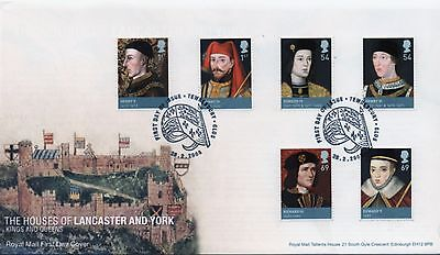 GB First Day Cover to celebrate Lancaster and York.