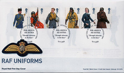 GB First Day Cover to celebrate RAF Uniforms & was issued on the 18th September