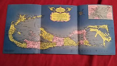 The Bermuda Islands Vintage Map 1940's?