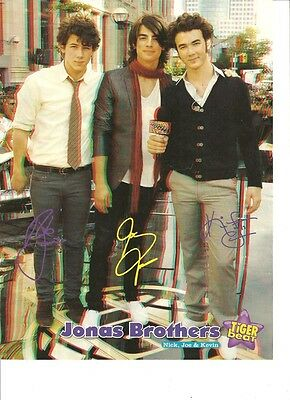 The Jonas Brothers, Full Page Pinup, 3D