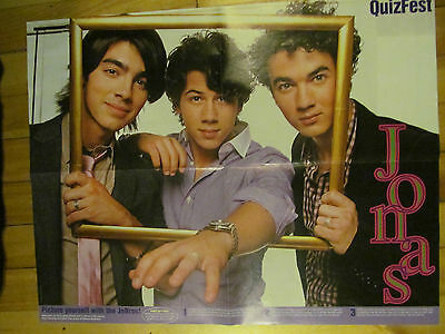 The Jonas Brothers, Four Page Foldout Poster, Double Sided, Miranda Cosgrove
