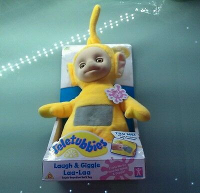 Teletubbies Laugh And Giggle Laa-Laa Soft Toy - **brand New**