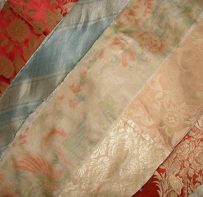 BATCH OF 6 PIECES BEAUTIFUL 19th CENTURY FRENCH SILK, PROJECTS REF