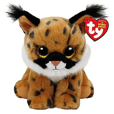 """Ty Beanie Baby ~ LARRY the 6"""" Lynx Wild Cat ~ NEW for 2017 ~ MINT with MINT TAGS"""