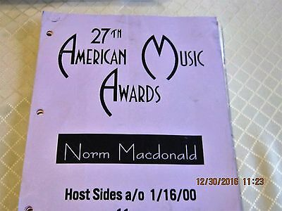 27th ANNUAL AMERICAN MUSIC AWARDS 2000. Norm MacDonald's sketches + jokes