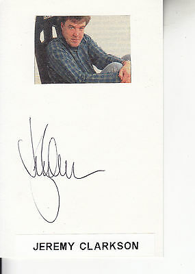 Jeremy Clarkson Signed Card
