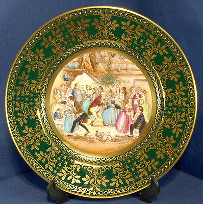 Caverswall 1980 Christmas Plate L/ed 123/1000 Christmas Eve at Mr Wardle's