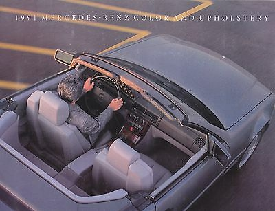 1991 Mercedes Color and Upholstery Charts  Factory Original Brochure   4 Pages
