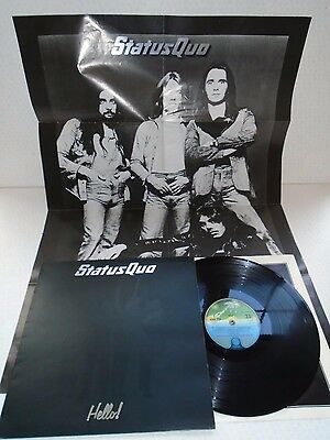 Status Quo-Hello! Inc Rare Poster!..superb 1St Uk Press Near Mint Vinyl Lp 1973