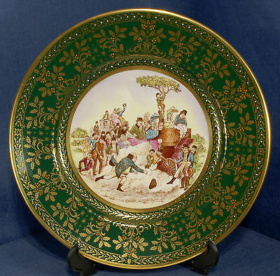 Caverswall 1981 Christmas Plate L/ed 493/1000 a Grand Review upon the Lines