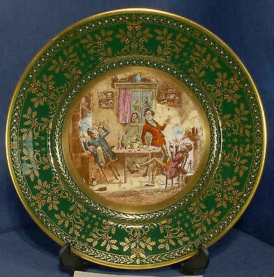 Caverswall 1982 Christmas Plate L/ed 18/1000 Conviviality At Bob Sawyers