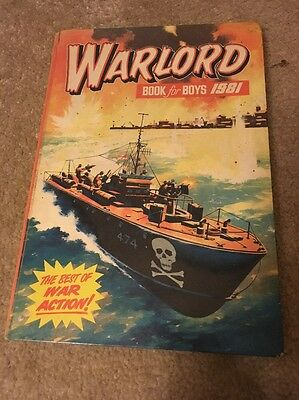 Warlord Book For Boys 1981 Retro Vintage