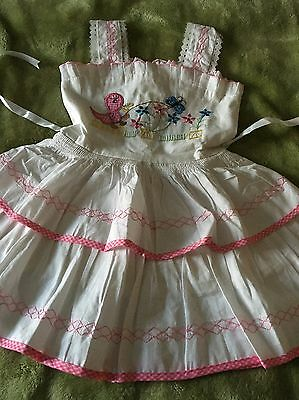 Vintage Girls children's  Really Pretty Part Lined Dress Age Aprox 2-3 Years