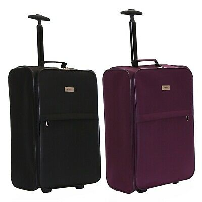 Ryanair 55cm Folding Cabin Approved Trolley Hand Luggage Suitcase Case Bag