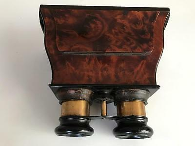 1860s-70s Early Walnut Hand Held Stereoscopic Viewer (Lovely Condition)