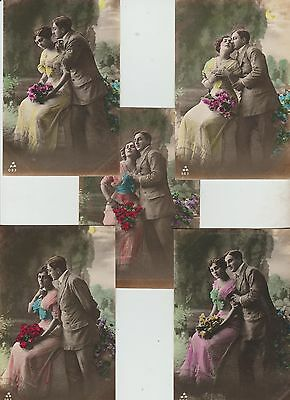 Selection Of 5 French Glamour  Postcards ,see Pics