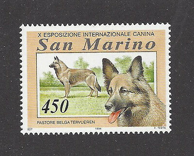 Dog Art Head Body Study Portrait Postage Stamp BELGIAN TERVUREN San Marino MNH