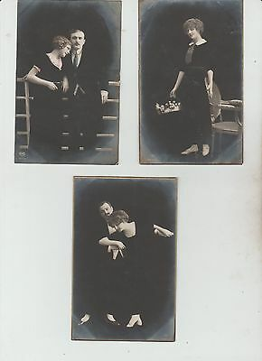 Selection Of 3 Black Glamour  Postcards ,see Pics