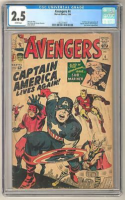 Avengers #4 CGC 2.5 1st Silver Age Appearance of Captain America