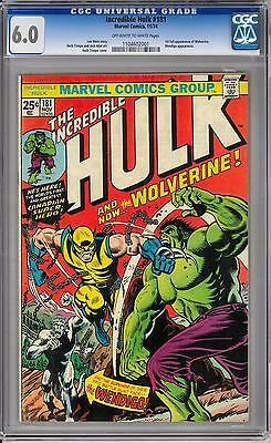 Incredible Hulk #181 CGC 6.0 (OW-W) 1st Appearance of Wolverine