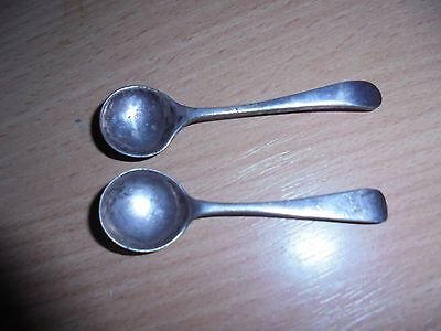 2 collectors mustard spoons