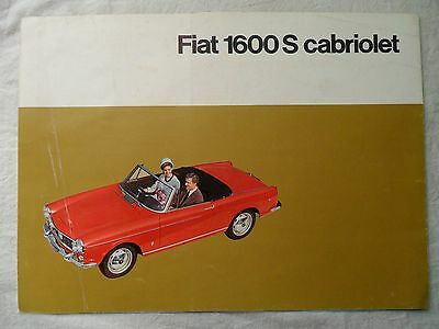 FIAT 1600S CABRIOLET SALES BROCHURE (French)