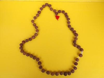 567 / Vintage Indian Necklace Made From Seeds On A Cotton Cord