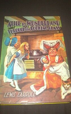 Vintage Alice in wonderland & Through the Looking glass book by Lewis Carroll.