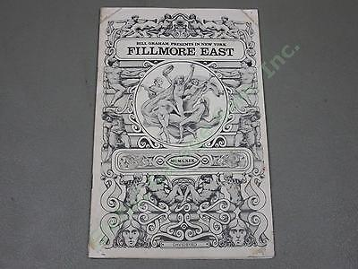 Original 1969 Fillmore East Program The Who Tommy Rock Opera + CSN Kinks NO RES!