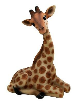 "10"" Tall Sitting Safari Adorable Giraffe Decorative Figurine Wild Life Animal"