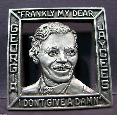 RHETT Butler CLARK GABLE SQUARE JAYCEE PEWTER Pin  Gone With the Wind