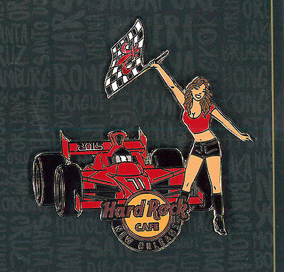 New Orleans Hard Rock Cafe pin - Race Car girl 2015 - LE HRC badge