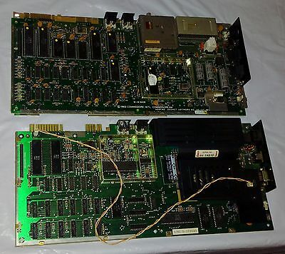2 Vintage COMMODORE 1980s CPU Pair Motherboard Lot CBM ESP 64 Computer 1981 1983