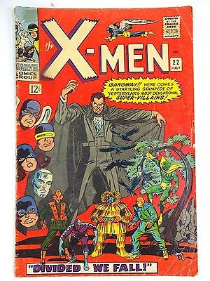"Vintage - Marvel X-Men #22 ""Divided We Fall"" Silver Age Comic Book Count Nefaria"