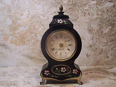 Vintage Westclox Miniature Alarm Mantel Clock..Nice Looking Running Alarm Works