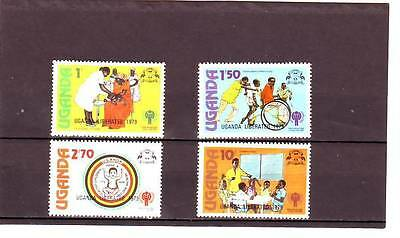 a111 - UGANDA - SG289-292 MNH 1979 YEAR OF THE CHILD OVPT LIBERATED 1979