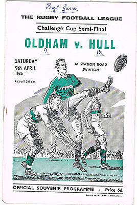 Oldham v Hull FC 1960 (9 Apr) Challenge Cup Semi-Final @ Swinton