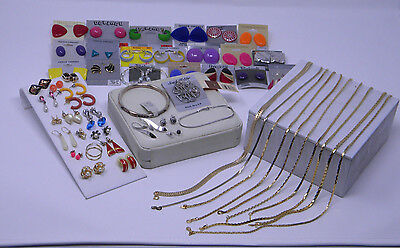 Lot of New & Used Good Condition Fashion Jewelry featuring 53 pieces