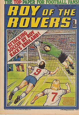 Roy of the Rovers issue dated February 4th 1978