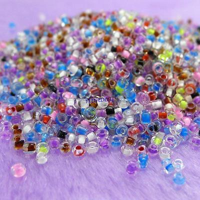 3000 Pcs Multicolored Glass Spacer Beads 2mm free shipping