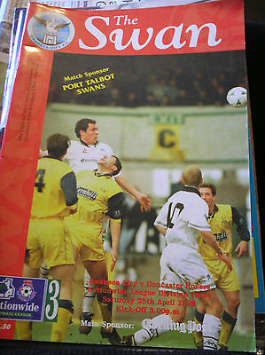 SWANSEA v DONCASTER 1997/98 LAST AWAY GAME IN THE LEAGUE