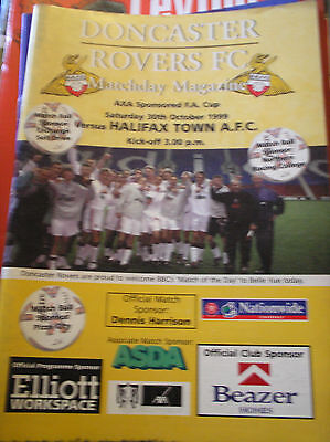 Doncaster Rovers V Halifax Town 1999/00 Fa Cup