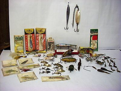 Vintage Fishing Lot - 50 Pieces - Used & Unused - Variety of Makers & Types