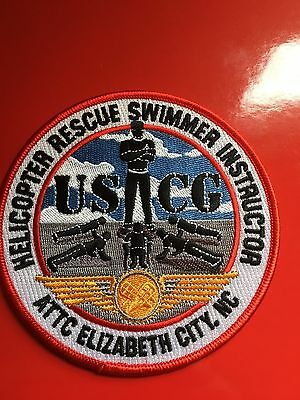 Uscg Helicopter Rescue Swimmer Instructor Elizabeth City Nc Shoulder Patch