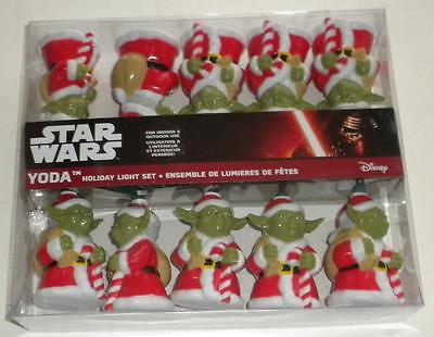 NEW STAR WARS YODA Christmas Holiday 10  Light Set KURT S. ADLER In & Outdoor