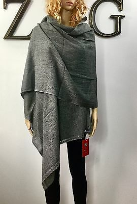 100% Multi Wear Exclusive Cashmere Scarf Shawl Stole Cape Handmade Feather Soft