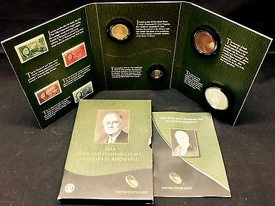 US Mint 2014 Franklin Roosevelt Coin and Chronicles Set Coins, Medals, Stamps